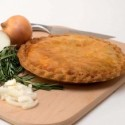 Chicken, Ham & Sausage Meat Pie